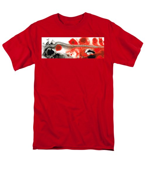 All Things Considered - Red Black And White Art T-Shirt by Sharon Cummings