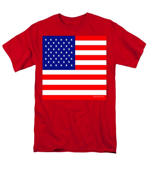 American Flag . Square T-Shirt by Wingsdomain Art and Photography