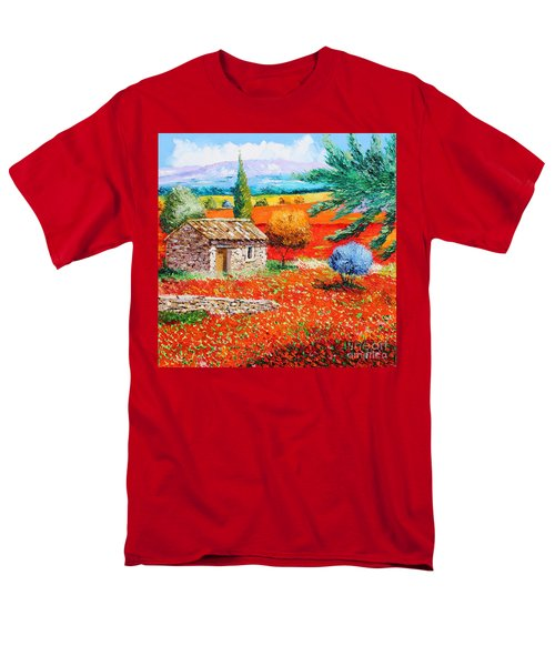 Among the Poppies T-Shirt by Jean-Marc Janiaczyk