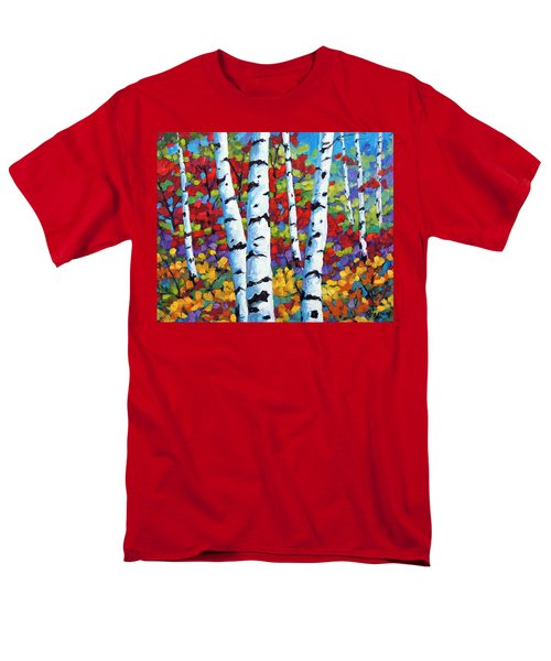 Birches in abstract by Prankearts T-Shirt by Richard T Pranke