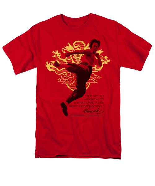 Bruce Lee - Immortal Dragon Men's T-Shirt  (Regular Fit) by Brand A
