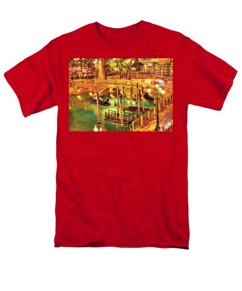 City - Vegas - Venetian - The Venetian at night T-Shirt by Mike Savad