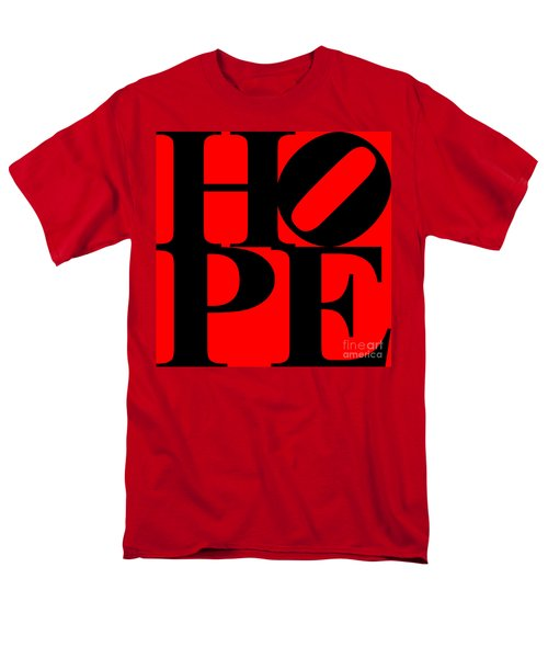 Hope 20130710 Black Red T-Shirt by Wingsdomain Art and Photography