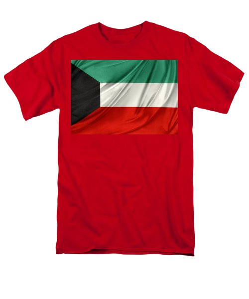 Kuwait flag  T-Shirt by Les Cunliffe