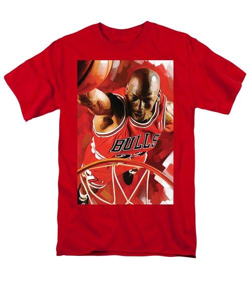 Michael Jordan Artwork 3 T-Shirt by Sheraz A