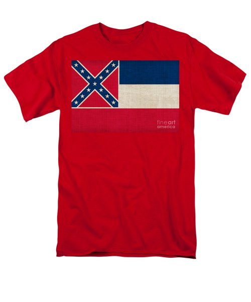 Mississippi state flag T-Shirt by Pixel Chimp