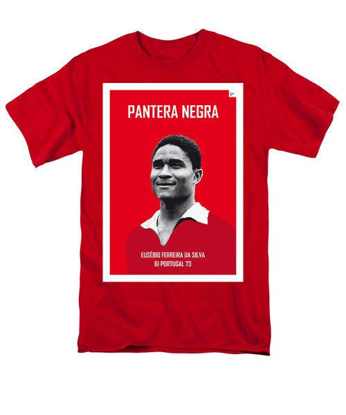 My Eusebio Soccer Legend Poster Men's T-Shirt  (Regular Fit) by Chungkong Art