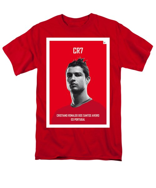 My Ronaldo Soccer Legend Poster Men's T-Shirt  (Regular Fit) by Chungkong Art
