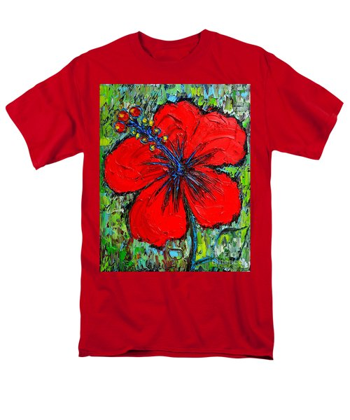 RED HIBISCUS T-Shirt by ANA MARIA EDULESCU