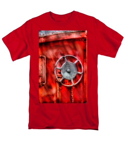 Train - Car - The Wheel T-Shirt by Mike Savad