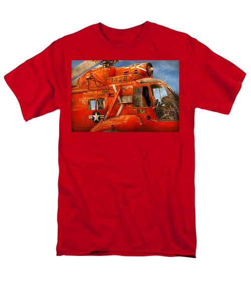 Transportation - Helicopter - Coast guard helicopter T-Shirt by Mike Savad