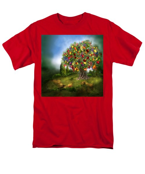 Tree Of Abundance Men's T-Shirt  (Regular Fit) by Carol Cavalaris
