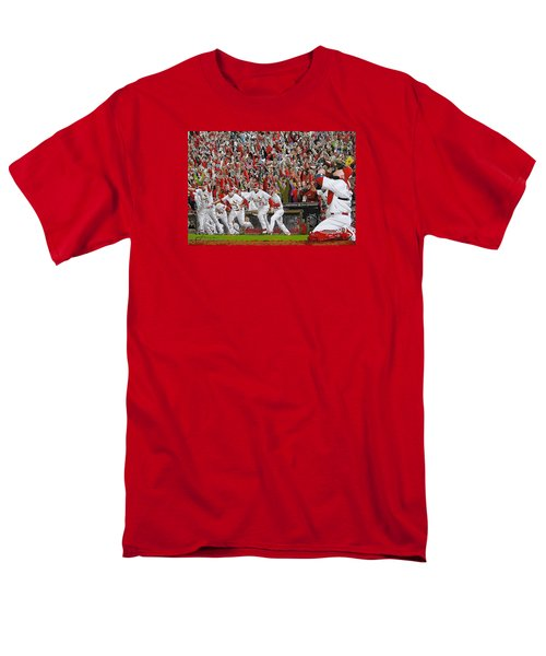 VICTORY - St Louis Cardinals win the World Series Title - Friday Oct 28th 2011 T-Shirt by Dan Haraga