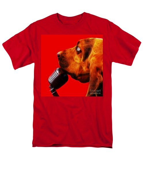 You Ain't Nothing But A Hound Dog - Red - Electric T-Shirt by Wingsdomain Art and Photography