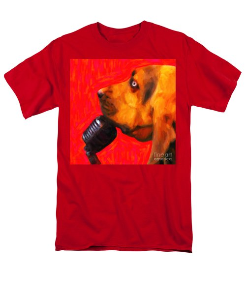 You Ain't Nothing But A Hound Dog - Red - Painterly T-Shirt by Wingsdomain Art and Photography