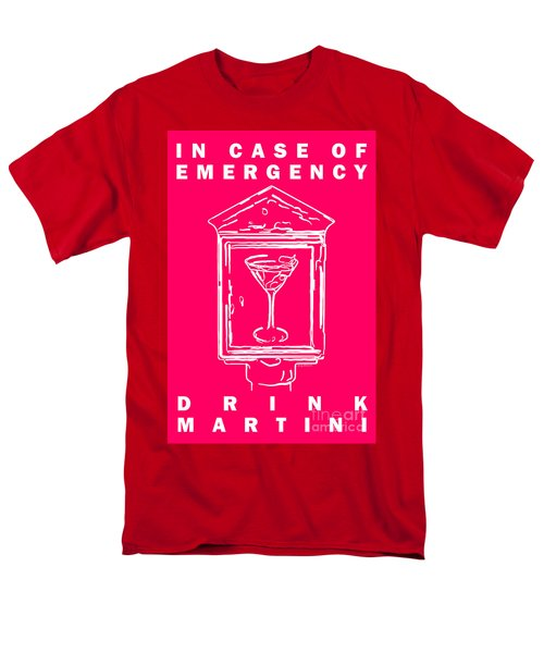In Case Of Emergency - Drink Martini - Pink T-Shirt by Wingsdomain Art and Photography