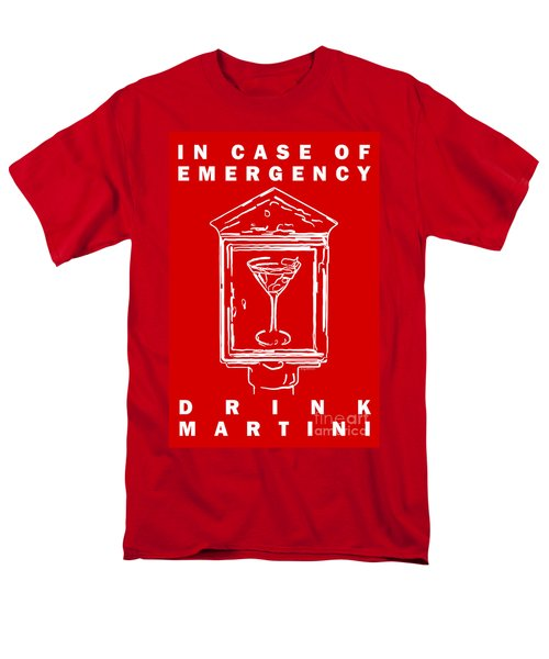In Case Of Emergency - Drink Martini - Red T-Shirt by Wingsdomain Art and Photography