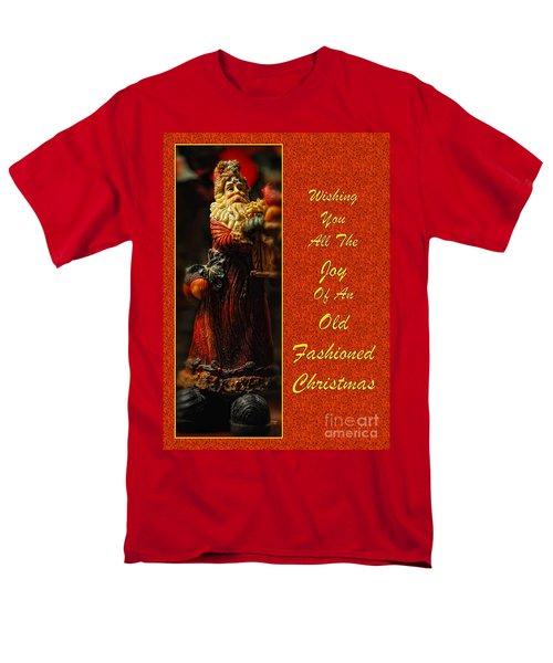 Old Fashioned Santa Christmas Card T-Shirt by Lois Bryan