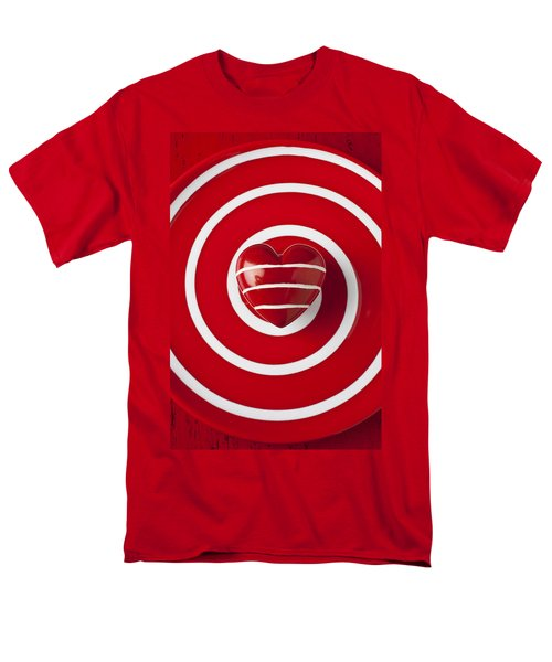 Red Heart Soft Stone T-Shirt by Garry Gay