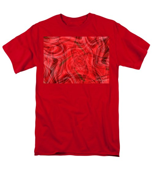 Ribbons of Red Abstract T-Shirt by Carol Groenen