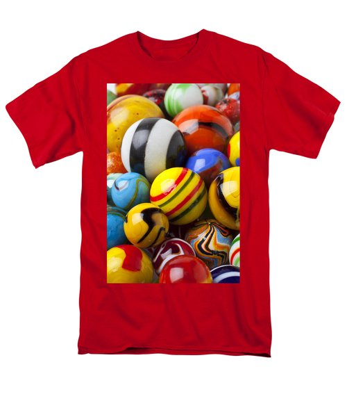 Colorful marbles T-Shirt by Garry Gay