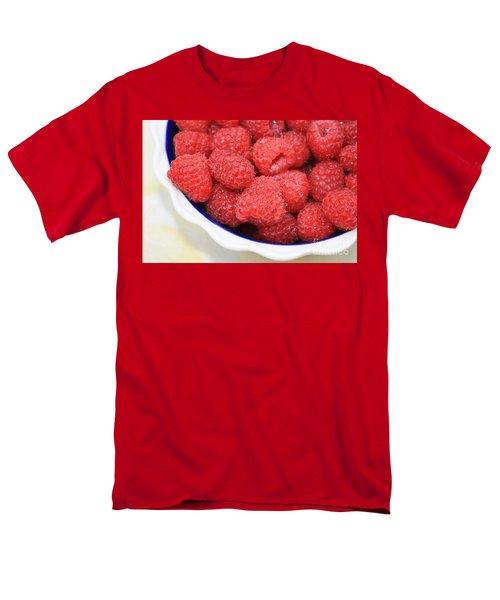 Raspberries In Polish Pottery Bowl Men's T-Shirt  (Regular Fit) by Carol Groenen