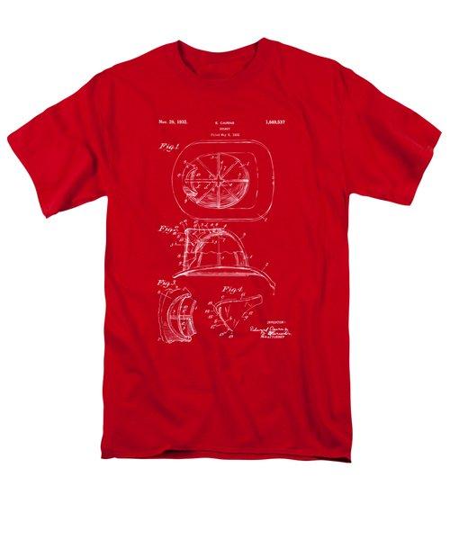 1932 Fireman Helmet Artwork Red Men's T-Shirt  (Regular Fit) by Nikki Marie Smith