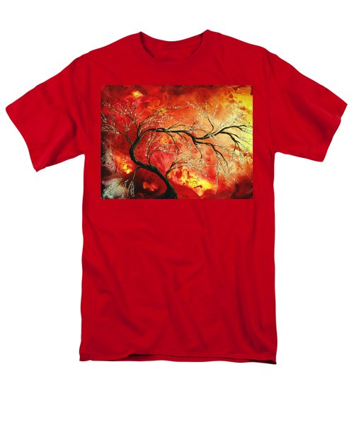 Abstract Art Floral Tree Landscape Painting FRESH BLOSSOMS by MADART T-Shirt by Megan Duncanson