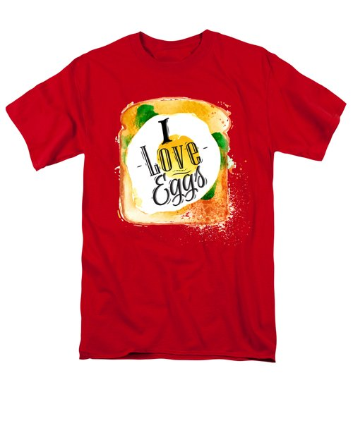 I Love Eggs Men's T-Shirt  (Regular Fit) by Aloke Design