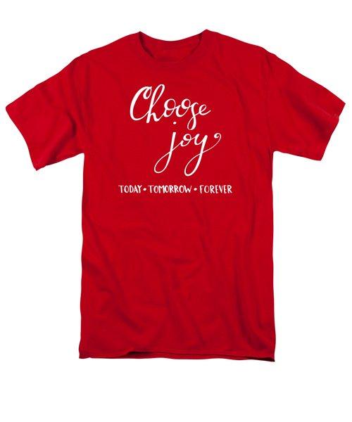 Choose Joy Men's T-Shirt  (Regular Fit) by Nancy Ingersoll