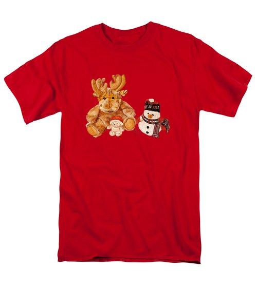 Christmas Buddies Men's T-Shirt  (Regular Fit) by Angeles M Pomata