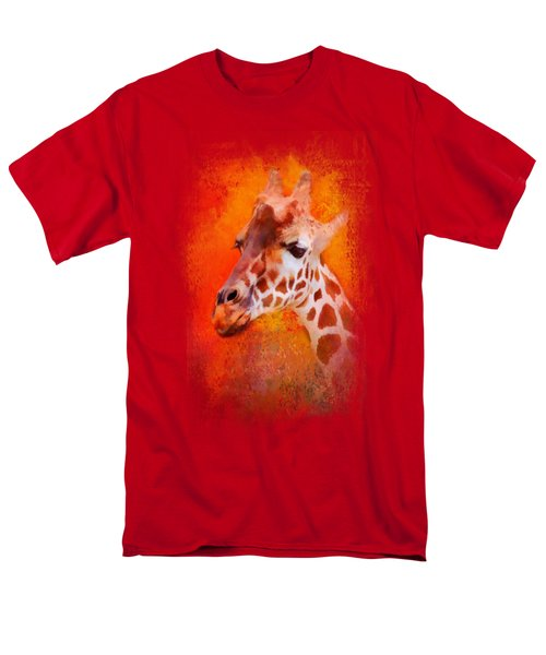 Colorful Expressions Giraffe Men's T-Shirt  (Regular Fit) by Jai Johnson