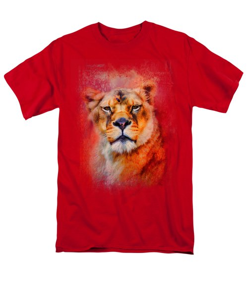 Colorful Expressions Lioness Men's T-Shirt  (Regular Fit) by Jai Johnson