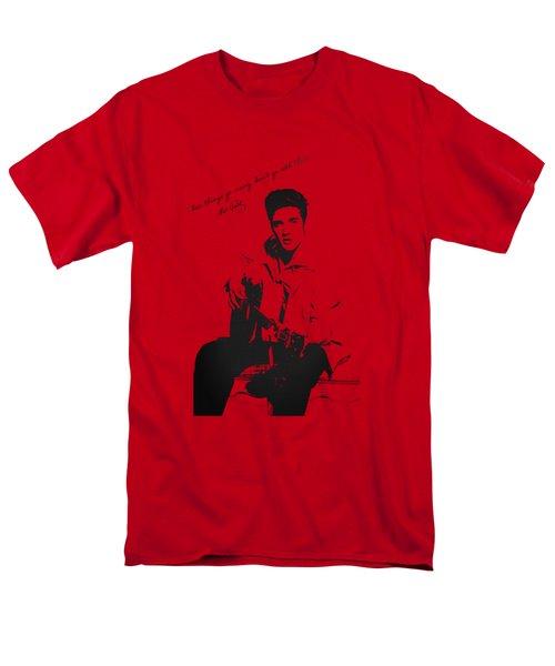 Elvis Presley - When Things Go Wrong Men's T-Shirt  (Regular Fit) by Serge Averbukh
