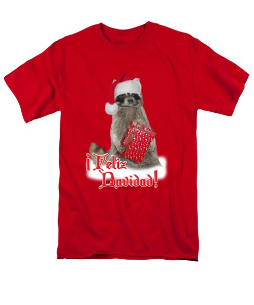 Feliz Navidad - Raccoon Men's T-Shirt  (Regular Fit) by Gravityx9  Designs