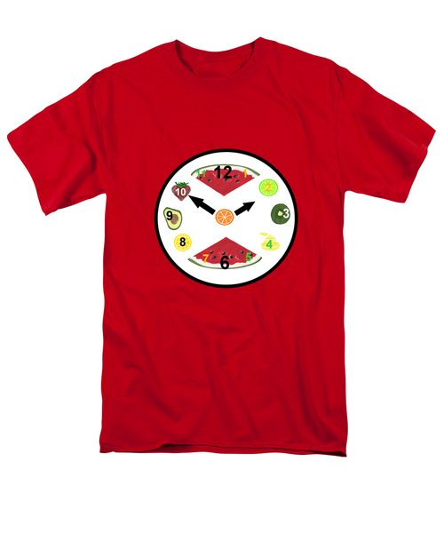 Food Clock Men's T-Shirt  (Regular Fit) by Kathleen Sartoris