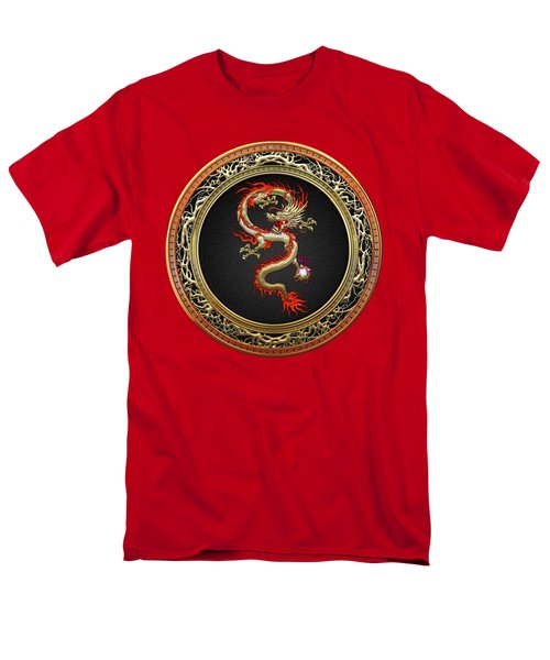 Golden Chinese Dragon Fucanglong Men's T-Shirt  (Regular Fit) by Serge Averbukh