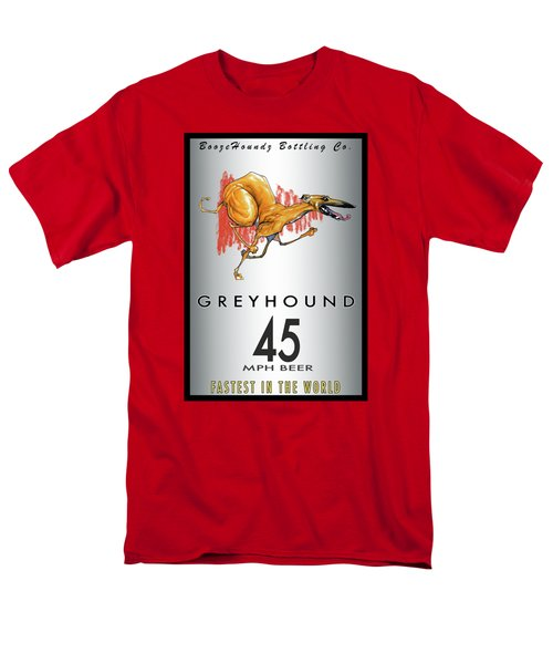 Greyhound 45 Mph Beer Men's T-Shirt  (Regular Fit) by John LaFree