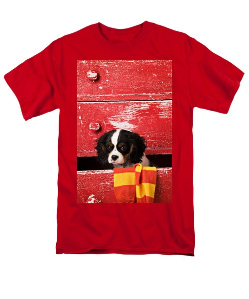 King Charles Cavalier Puppy  T-Shirt by Garry Gay