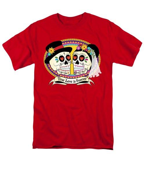 Los Novios Sugar Skulls T-Shirt by Tammy Wetzel