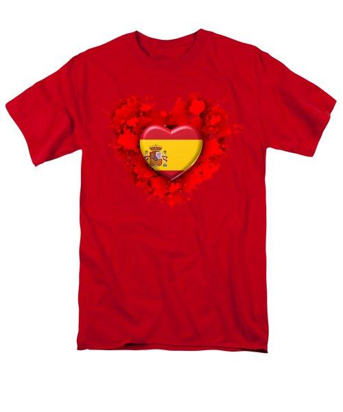 Love Spain Men's T-Shirt  (Regular Fit) by Alberto RuiZ