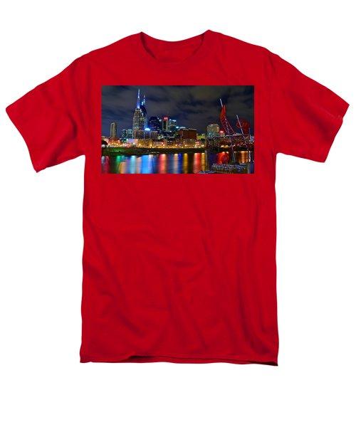 Nashville After Dark Men's T-Shirt  (Regular Fit) by Frozen in Time Fine Art Photography