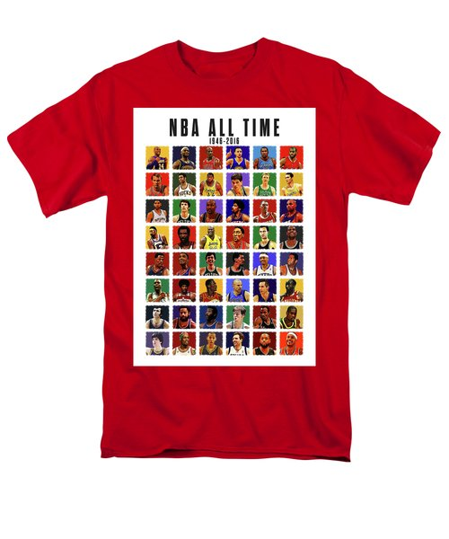 Nba All Times Men's T-Shirt  (Regular Fit) by Semih Yurdabak