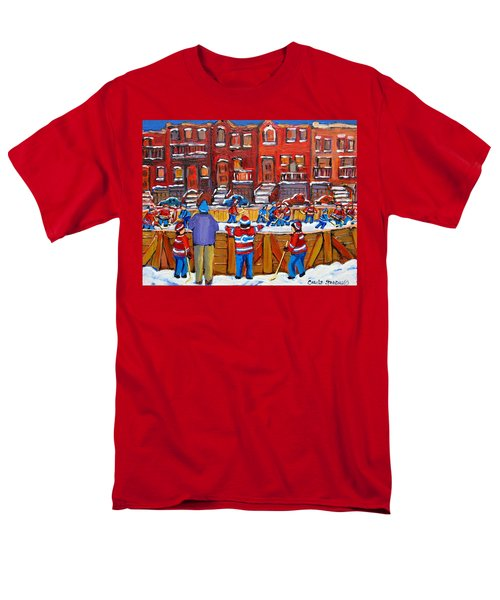 NEIGHBORHOOD  HOCKEY RINK T-Shirt by CAROLE SPANDAU