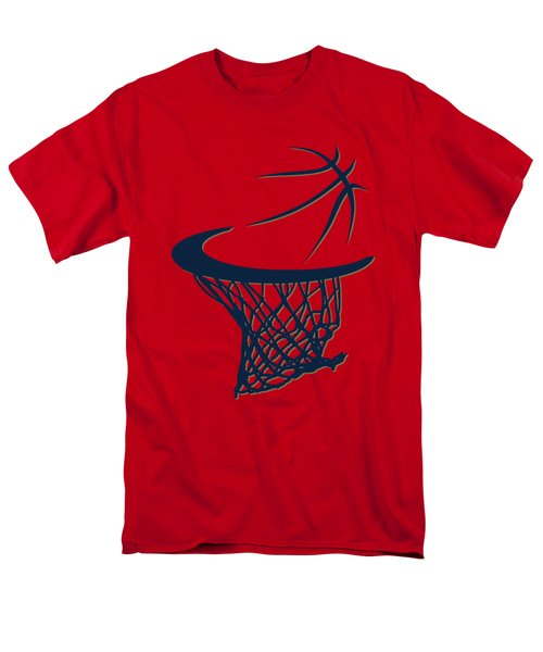 Pelicans Basketball Hoop Men's T-Shirt  (Regular Fit) by Joe Hamilton