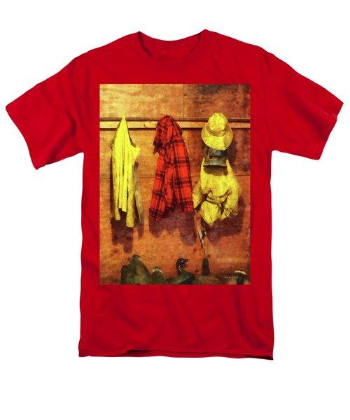 Rain Gear and Red Plaid Jacket T-Shirt by Susan Savad