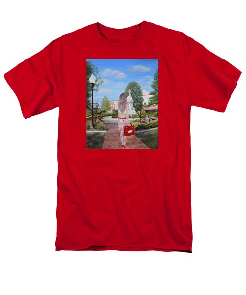 Razorback Swagger At Bentonville Square Men's T-Shirt  (Regular Fit) by Belinda Nagy