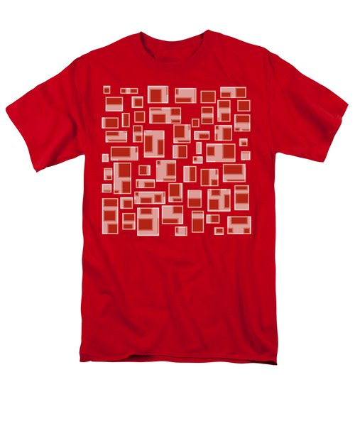 Red Abstract Rectangles T-Shirt by Frank Tschakert