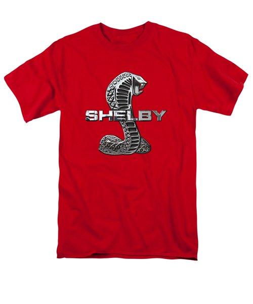 Shelby Cobra - 3d Badge On Red Men's T-Shirt  (Regular Fit) by Serge Averbukh