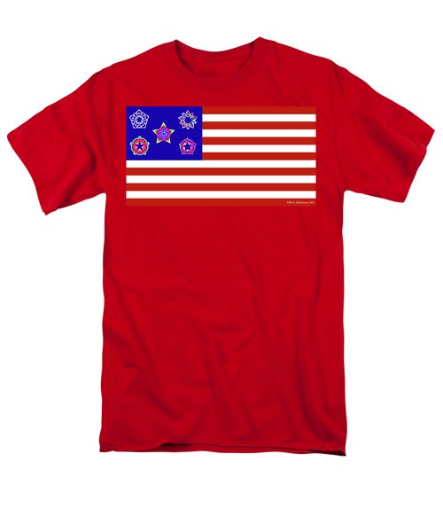 Stars and Stripes of RetroCollage T-Shirt by Eric Edelman